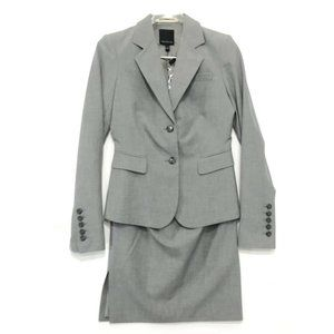 The Limited NWT 2 Piece Skirt Suit Sz 0 Gray